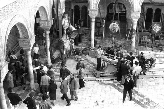 Imagen del set de rodaje de Lawrence de Arabia (Casa Pilatos)