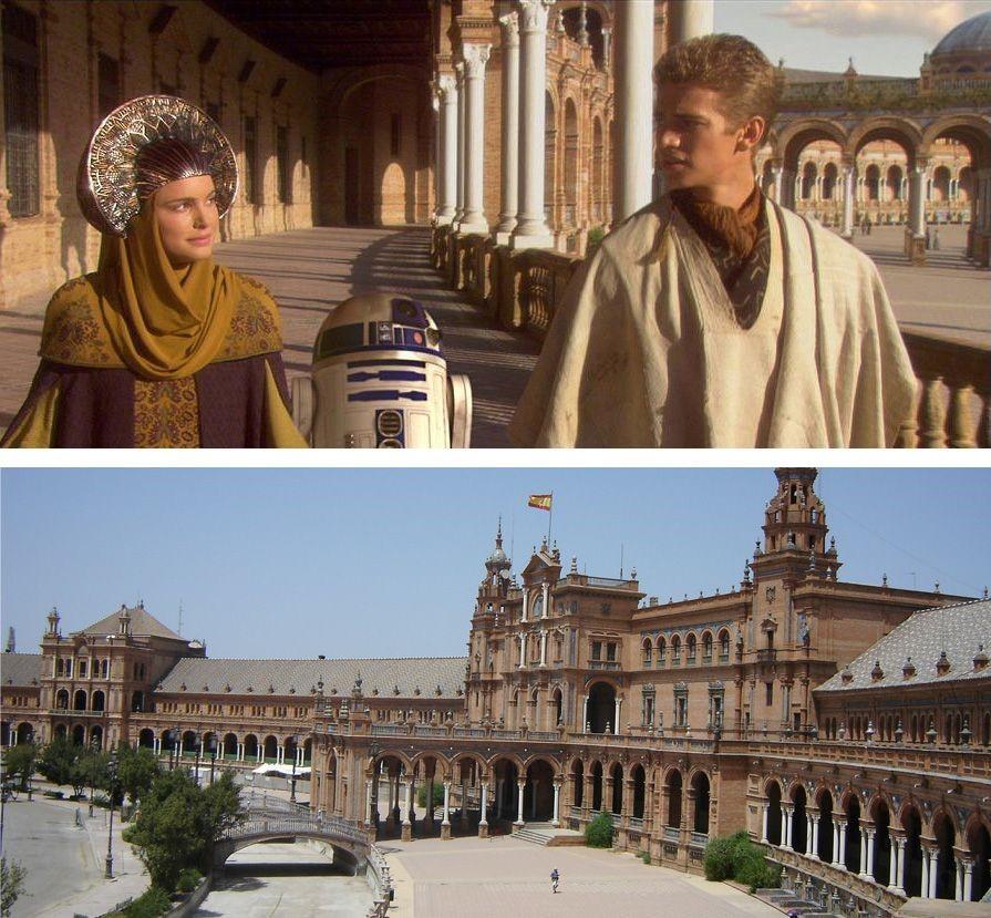 Luke Padame and R2D2 at the royal palace