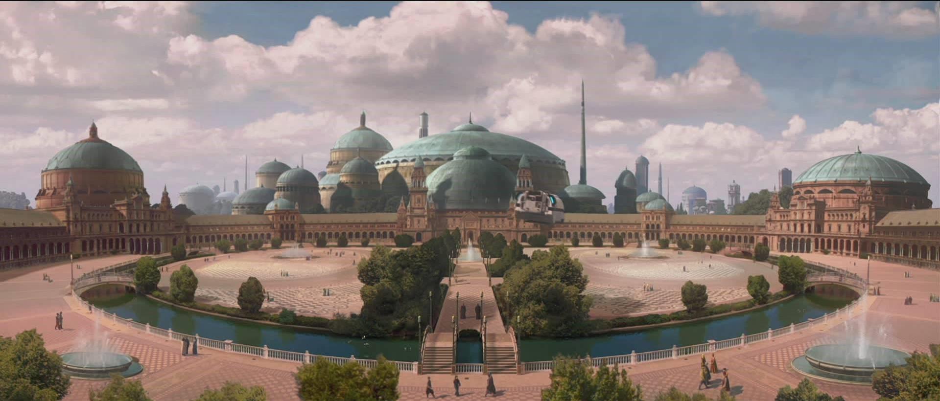 Star Wars Naboo CGI of Plaza De España