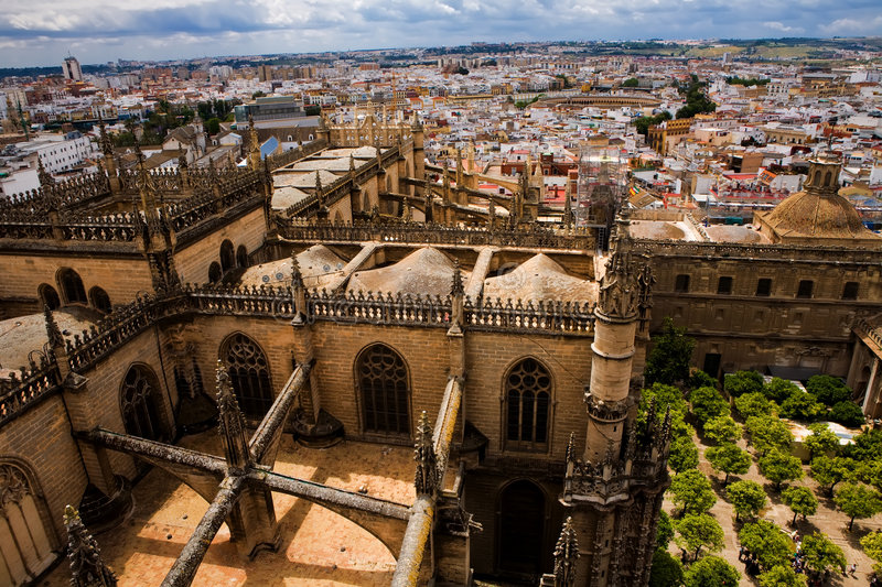 View from the Giralda Tower over Seville